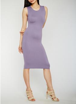 Sleeveless Scoop Neck Bodycon Dress - 0094060580250