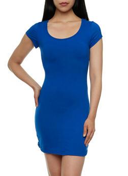 Brushed Knit Scoop Neck Mini Dress - 0094060581250