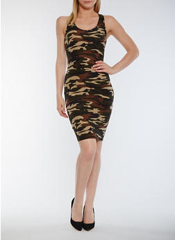 Camouflage Racerback Tank Dress - 0094060586374