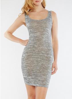 Marled Sleeveless Tank Dress - 0094061638585