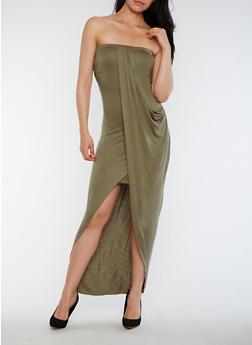 Strapless Overlay Maxi Dress - 0094061639527