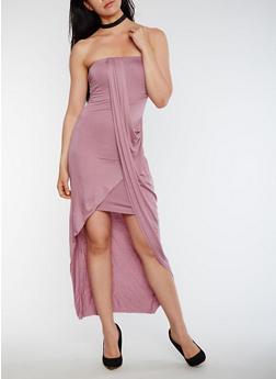 Strapless Overlay Maxi Dress - MAUVE - 0094061639527