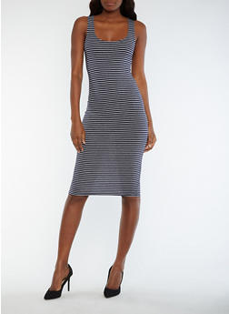 Striped Tank Dress - 0094061639575