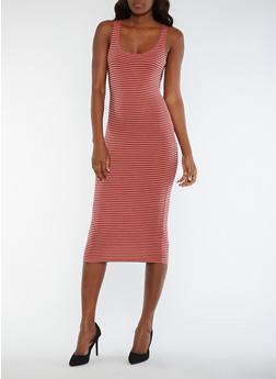 Striped Tank Dress - 0094061639575