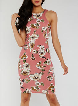 Printed Mini Bodycon Dress - 0094069394356