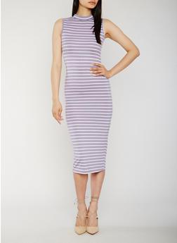 Striped Maxi Dress - 0094073371983