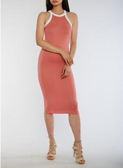 Soft Knit Halter Tank Dress - 0094073373215