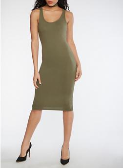 Choker Neck Tank Dress - 0094073373553