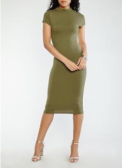 Soft Knit Midi Dress - 0094073374658