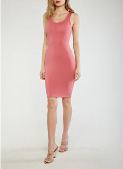 Solid Bodycon Dress - 0094074281510