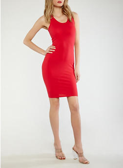 Solid Bodycon Dress - 0094074281510
