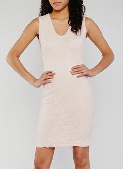 Sleeveless Lace V Neck Sheath Dress - 0096038347883
