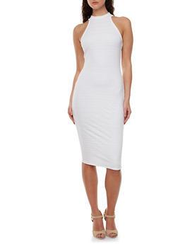 Bandage Dress with Mock Halter Neck - 0096058750998