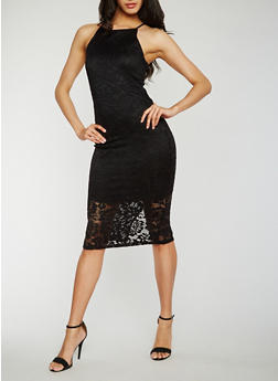 Sleeveless Lace Sheath Dress - 0096058752674