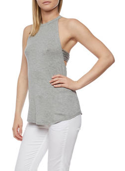 Caged Side Tank Top - 0300015998670