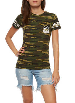Love Camo Graphic T Shirt - 0302033870871