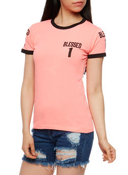 Blessed 1 Graphic Short Sleeve T Shirt - 0302033877201