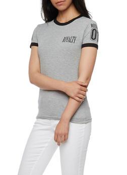 Royalty Graphic Ringer T Shirt - 0302033877996