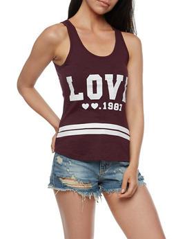 Love Graphic Tank Top - 0302033878004