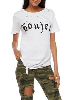 Boujee Laser Cut T Shirt - 0302033878227