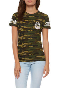 Army Camo Graphic T Shirt - 0302033878337
