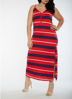 Plus Size Soft Knit Maxi Dress - 0390038347627