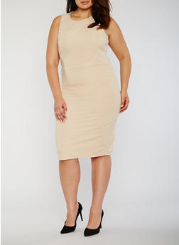 Plus Size Bandage Dress with Caged Back - 0390038347846