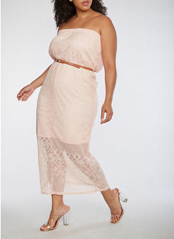 Plus Size Lace Maxi Dress - 0390038347878