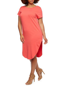 Plus Size T-Shirt Dress - 0390058750503
