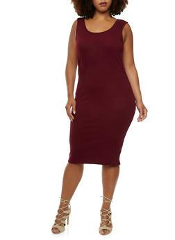 Plus Size Midi Dress - 0390060582497