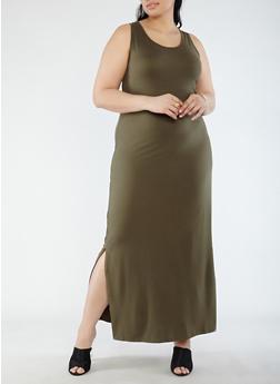 Plus Size Soft Knit Maxi Dress - 0390073374910