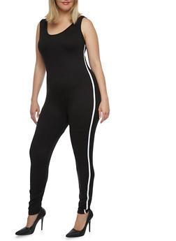 Plus Size Soft Knit Jumpsuit - 0392058937224