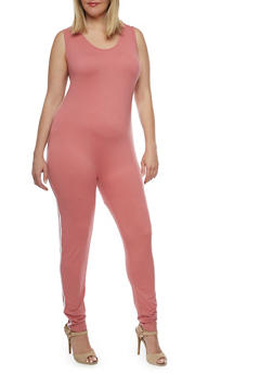 Plus Size Soft Knit Jumpsuit - 0392058937224