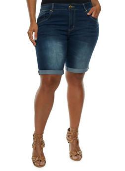 Plus Size VIP Jeans Denim Bermuda Shorts - 0872065308315