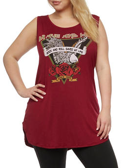 Plus Size Brave and Wild Slashed Top - 0910058933061