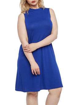 Plus Size Sleeveless Tunic Top - 0910063400555