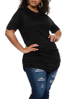 Plus Size Short Sleeve Tunic Top - 0915058930805