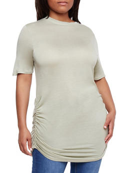 Plus Size Short Sleeve Tunic Top - 0915058930805