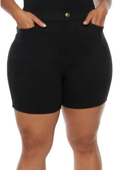 Plus Size Denim Bermuda Shorts - 0960072717516