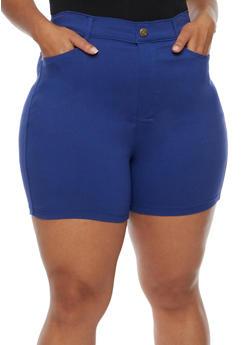 Plus Size Denim Bermuda Shorts - 0960072717516