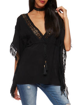 Crochet Fringe Boho Top - 1001058750771