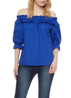 Ruffled Off The Shoulder Top - 1001067330468