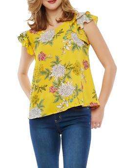 Floral Crepe Knit Top - 1001074290140