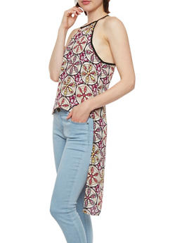 High-Low Duster in Mixed Print - KALEIDOSCOPE - 1002051062620