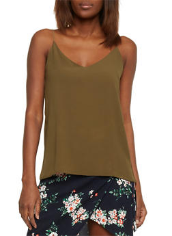 Crepe Cami Top - OLIVE - 1002054269424