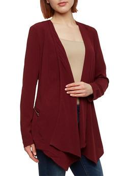 Long Sleeve Open Front Blazer - 1008051065274