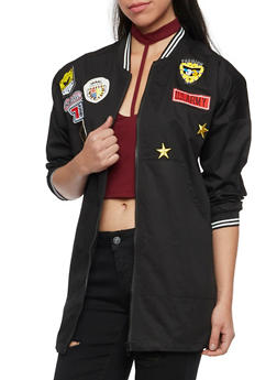 Utilitarian Coat with Varied Patches - 1008058750688