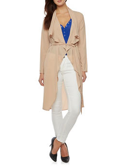 Belted Duster with Long Sleeves - 1008058754412