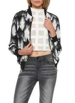 Bomber Jacket in Tie Dye Print - 1008058756323