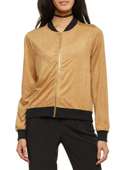 Bomber Jacket in Brushed Suede - 1008058756949